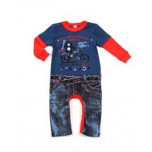 """Комбинезон для малышей синий с красным """"байкер"""""""
