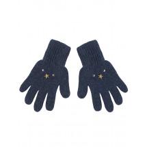Перчатки зимние синего цвета со звездами ДИМКА