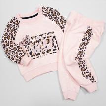 """Комплект цвета розовый меланж толстовка с брюками """"Дикая природа"""""""