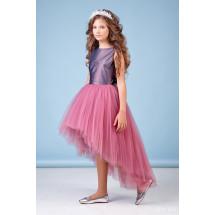 """Платье нарядное со шлейфом ягодного цвета """"Аура"""""""