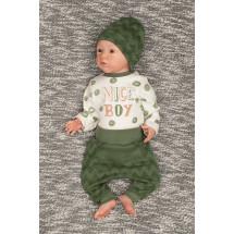 """Комплект для малышей зеленого цвета (боди и штаны) """"Nice boy"""""""