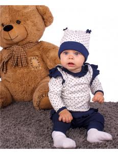 """Комплект для малышей (блуза, рейтузы и шапка) """"Бантики"""""""