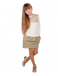 """Комплект золотистого цвета юбка и блуза """"Роскошь"""""""