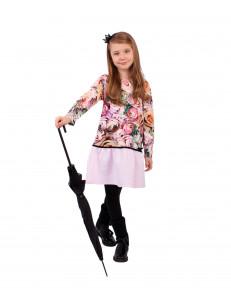 """Платье для девочек с длинным рукавом """"Розы 3Д"""""""