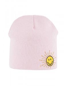 """Шапка весенняя розового цвета для девочек """"Smile"""""""